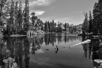 Camp Lake B&W van Zachary Tell