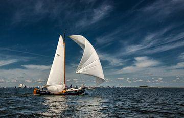 Zeilen op t IJsselmeer van