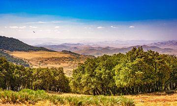 Panorama van het Rifgebergte. Marokko van Rietje Bulthuis