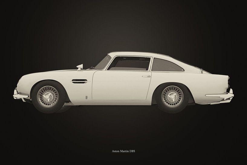 Aston Martin DB5 B&W versie van Jan Keteleer