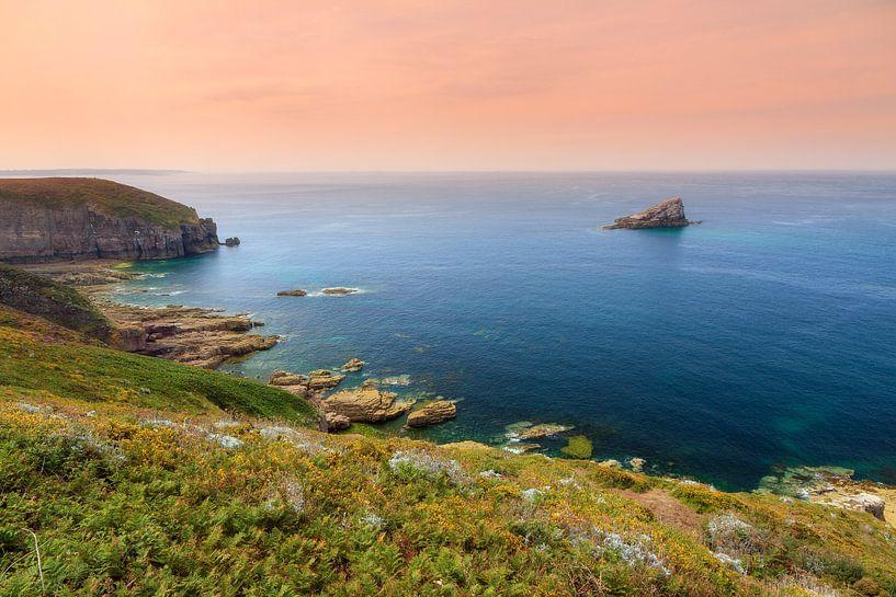 Cap Frehel zonsondergang in de zomer van Dennis van de Water