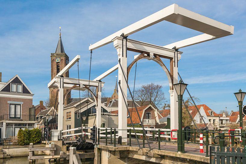 Village néerlandais typique avec église et pont-levis, Loenen aan de Vecht sur Jan van Dasler