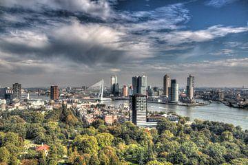 Skyline Rotterdam van Rob Handgraaf