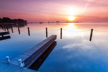 Sonnenaufgang über den Kagerplassen von Marcel van den Bos