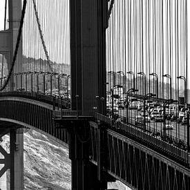 Traffic on the Golden Gate Bridge - San Francisco - USA sur Ricardo Bouman