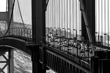 Traffic on the Golden Gate Bridge - San Francisco - USA von Ricardo Bouman