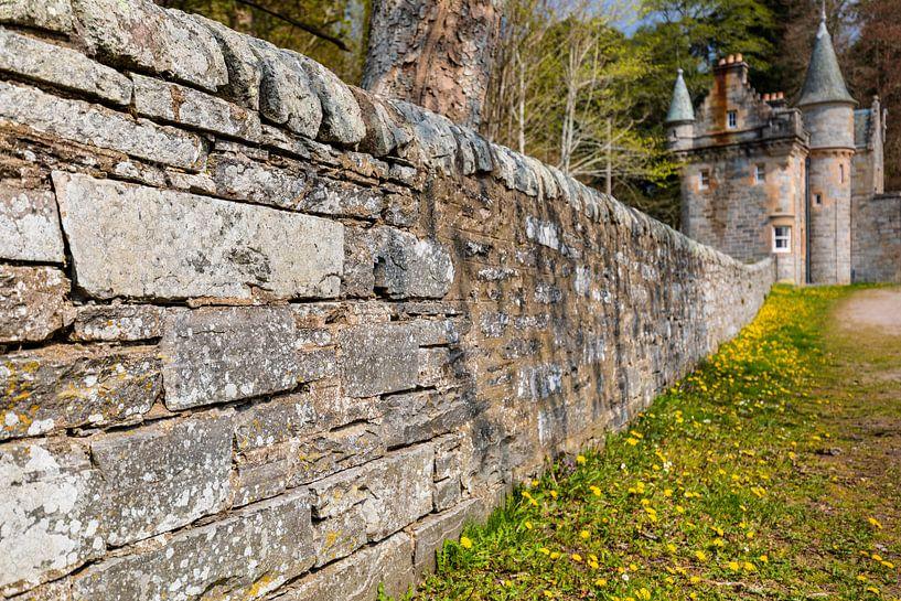 Kasteelmuur Blair Castle - Schotland van Remco Bosshard