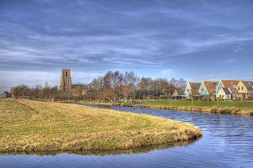 Ransdorp tegen de rand van Amsterdam met lente lucht van Jeffrey Steenbergen