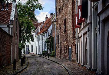 Breestraat en achterkant Museum Flehite, historisch Amersfoort von Watze D. de Haan
