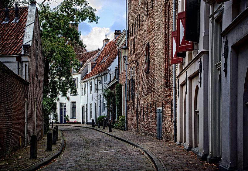 Breestraat en achterkant Museum Flehite, historisch Amersfoort van Watze D. de Haan