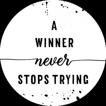 A winner never stops trying van Melanie Viola