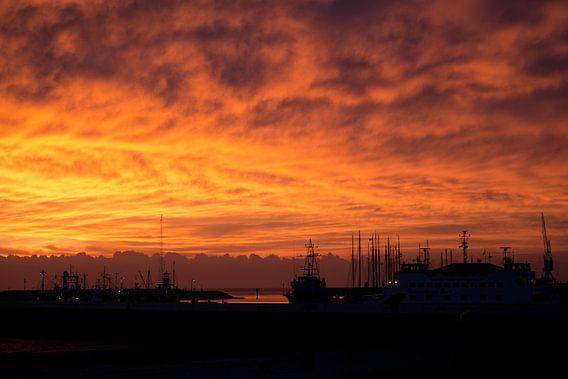 Onweer op komst bij zonsondergang