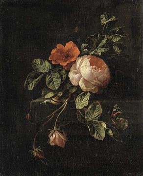 Stilleven met rozen, Elias van den Broeck sur