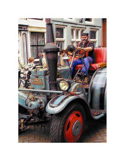 Stoomauto van Arie Van Garderen