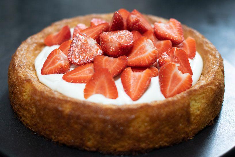 Gâteau aux fraises sur Annemieke Glutenvrij