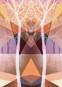 TREES INTO GEOMETRIC WOLRD NO3-1 von Pia Schneider