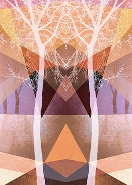 TREES INTO GEOMETRIC WOLRD NO3-1 van Pia Schneider