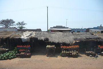 'Groenten kraampjes', Zambia van Martine Joanne