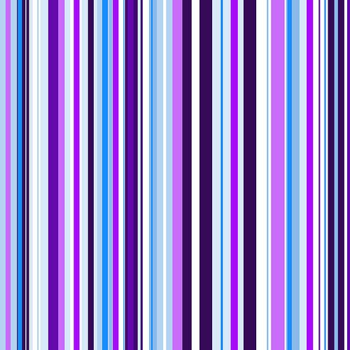 Striped art lilac blue van