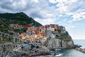 Manarola , Cinque Terre, Italy. van