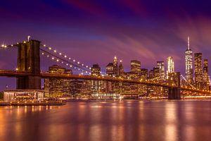 BROOKLYN BRIDGE Sonnenuntergang über New York City