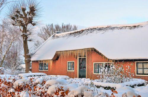 Winterse boerderij van