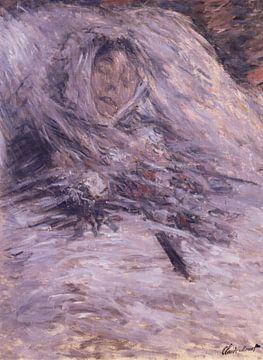 Camille Monet sur son lit de mort, Claude Monet sur