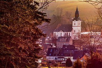 Blick auf die Kirche in Drebach / Erzgebirge von Johnny Flash