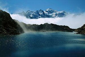 Un lac au Mont-Blanc van