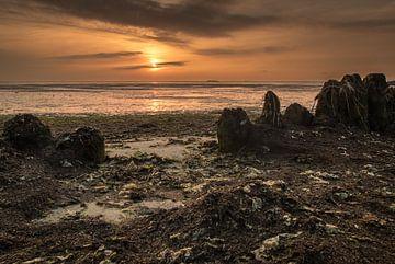 Sonnenaufgang am Wattenmeer von Claudia van Zanten