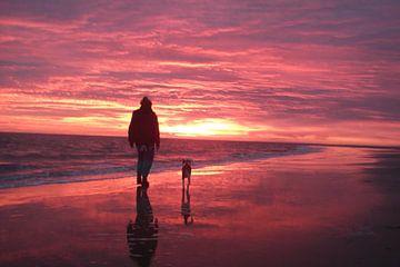 Avondrood in Zeeland, Sunset van Yvonne de Waal Malefijt
