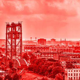 Le Pont et le Stade - monochrome sur Frans Blok