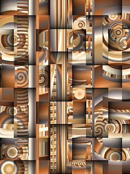 Vlechtwerk-patroonmix bruin van Heidemarie Andrea Sattler