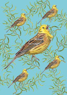 Gelb-bunt in einer gewundenen Weide von Jasper de Ruiter