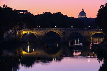 Rome met Vaticaan bij zonsondergang van Marco Leeggangers