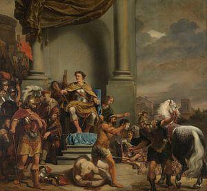 Konsul Titus Manlius Torquatus hat seinen Sohn Ferdinand Bol geköpft von