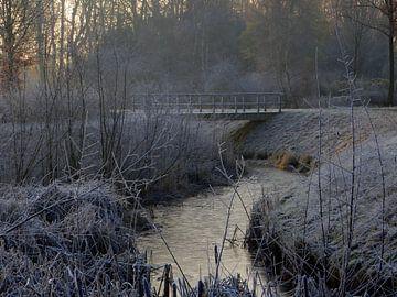 Brücke mit reifer Landschaft von Joke te Grotenhuis