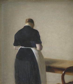 Femme vue de dos, Vilhelm Hammershøi sur