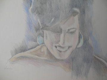 Amy - Laughing von Lucia Hoogervorst