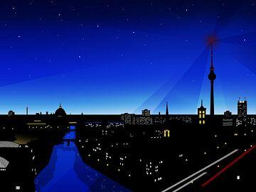 Berliner Skyline van Sandra Höfer
