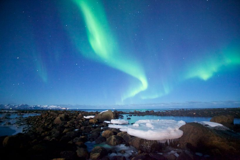 Noorderlicht met ijsschot van Peter van der Horst