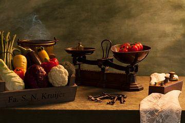 Wikken en wegen met groenten van Henny Brouwers