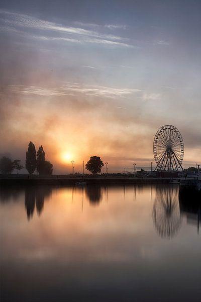 Honfleur zonsopkomst Frankrijk van Rob van der Teen