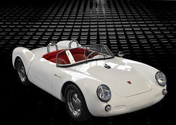 Porsche 550 Spyder in Originalfarbe von aRi F. Huber