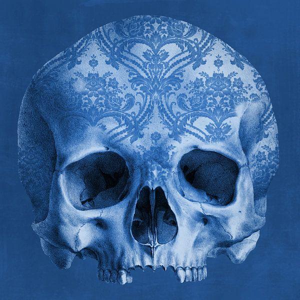 The Delftblue Skull van Marja van den Hurk