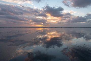 Zonsondergang op Schiermonnikoog sur michel Knikker