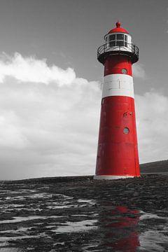 Leuchtturm Westkapelle Niedrig von Zeeland op Foto