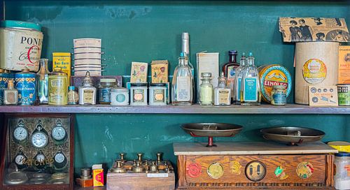 Vintage winkeltje bij de O'Keefe Ranch, Canada