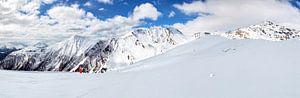 Bergpanorama in het skigebied Serfaus van Dirk Rüter
