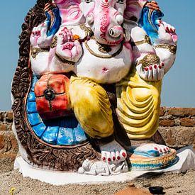 Ganesh in Khajurao van Theo Molenaar